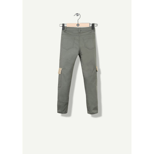 Pantalon fille twill forme battle