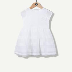 Robe à rayures blanche