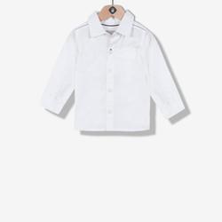 Chemise garçon en popeline blanche