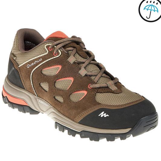 bf739091c59 Outdoor sports non-slip cushioning women's hiking shoes QUECHUA FORCLAZ  FLEX LOW NOVADRY