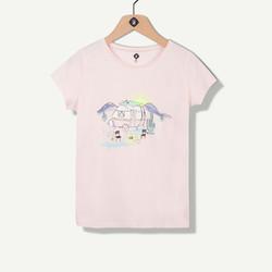 T-shirt rose pâle maxi print estival