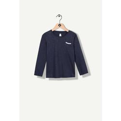 T-shirt bleu marine à paillettes