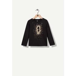 T-shirt noir avec éclair doré